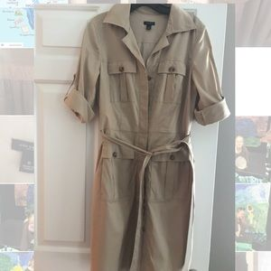 Ann Taylor Cotton Shirt Dress Sz8
